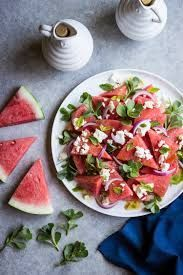WATERMELON FETA SALAD - ful-filled Watermelon Salad Recipes, Watermelon And Feta, Fruit Recipes, Easy Healthy Recipes, Summer Recipes, Real Food Recipes, Healthy Choices, Eat Greek, Clean Eating
