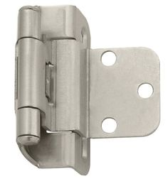Reverse Bevel Variable Overlay Hinge in Satin Nickel. Made for 30 ...