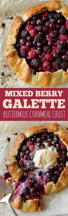 As delicious and impressive as pie, but half the work! This mixed berry galette with buttermilk cornmeal crust is the easiest summer dessert!