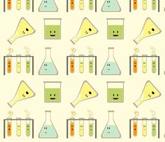 mad science fabric by avelis for sale on Spoonflower - custom fabric, wallpaper and wall decals