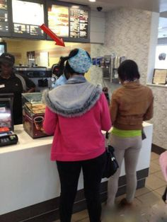 Welcome to McDonald's - Is That Underwear on Your Head? ---- funny pictures hilarious jokes meme humor walmart fails