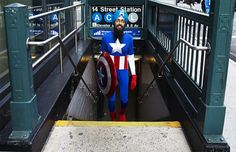 Read more about a NYC Sikh who dressed up as Captain America and wandered the city as part of a photo project. Pretty cool.