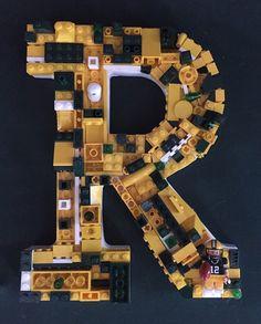 Custom LEGO Green Bay Packer letter  by MosaicTreasureBox