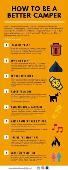 How to be a better camper infographic