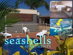Merimbula Seashells Apartments Merimbula Australia, Pacific Ocean and Australia Seashells Apartments Merimbula is conveniently located in the popular Merimbula area. Offering a variety of facilities and services, the hotel provides all you need for a good night's sleep. Free Wi-Fi in all rooms, laundromat, kitchen, express check-in/check-out, luggage storage are just some of the facilities on offer. Comfortable guestrooms ensure a good night's sleep with some rooms featuring f...