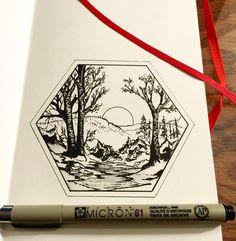 #moleskine #sketchbook #micron #drawing #ink #iblackwork
