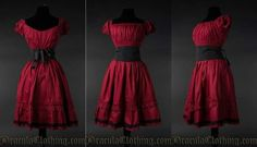 http://draculaclothing.com/index.php/red-cotton-gothabilly-dress.html