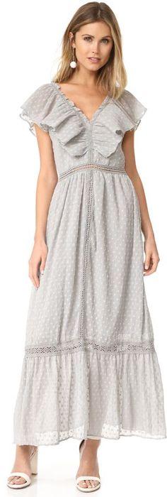 7c95dac5b20c Grey flowy J.O.A. Swiss Dot Maxi Dress Moon River, Colourful Outfits, Norma  Kamali,