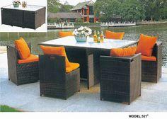 PE rattan dining table set www.facebook.com/pages/Foshan-Fantastic-Furniture-CoLtd                                                         www.ftc-furniture.com