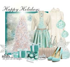 """""""A Very Tiffany Christmas"""" by stylesbyjoey ❤ liked on Polyvore"""
