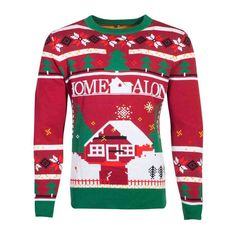 Home Alone Christmas sweater Christmas Multicolours Knitted Christmas Jumpers, Christmas Sweaters, Shrek, Home Alone Christmas, Fox Home, Unisex, Long Sleeve, How To Wear, Licence