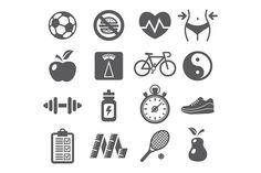 Health and Fitness Icons Graphics Health and Fitness Icons. Editable EPS and Render in JPG format. by ihorzigor Web Icon Vector, Vector Free, Business Icon, Business Card Logo, Skull Icon, Compass Icon, Fitness Icon, Summer Icon, Doodle Icon