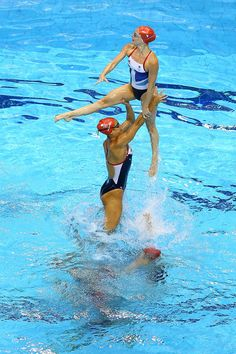 Olympics - Previews - Day - 2  Athletes from the Great Britain Women's Synchronised Swimming team