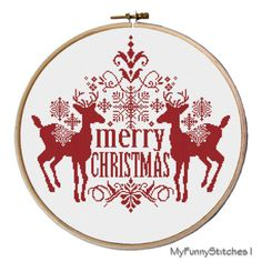 Christmas Deer Cross Stitch