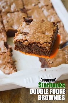 Copycat Starbucks Double Fudge Brownie Recipe