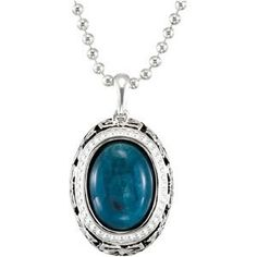 Genuine IceCarats Designer Jewelry Gift Sterling Silver Genuine Opaque Apatite Nck. 15.00X11.00 Mm/ 18.00 Inch Genuine
