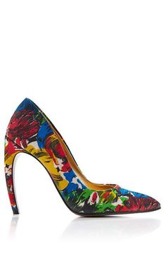 Printed Canvas Pumps by Walter Steiger Now Available on Moda Operandi