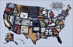 United Shapes, A Map of Things States Are Shaped Like