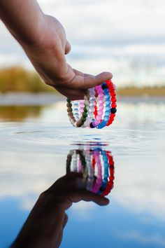Colorful limited edition set of lokai bracelets. Each lokai bracelet is infused with elements from the highest and lowest points on Earth.