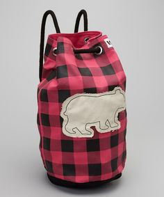 Take a look at this Pink Plaid Bear Tote by Lazy One on #zulily today!