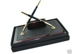 Pen Stand Card Holder Desk Set Fountain Roller Pen | eBay