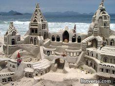 Beautiful SandCastle at the Sea #SunSandSea #pinittowinit