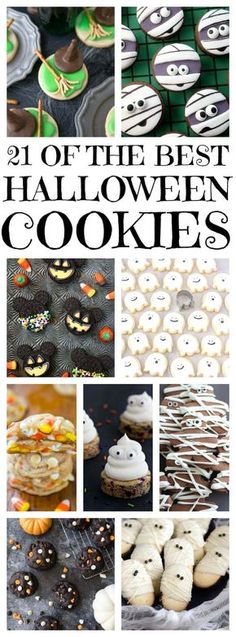 Easy Halloween Cookie Recipe Ideas including Halloween sugar cookies and Halloween chocolate chips