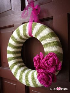 Ewe Ewe Yarns :: Awesome Knitting Stuff - Year Round Wreath Knitting Pattern