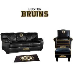 Boston Bruins Leather Furniture Set