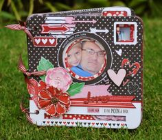 Denise van Deventer created this adorable mini album all about the two special men in her life using the new Head Over Heels collection. Love all the fun elements. #BoBunny, @Denise van Deventer