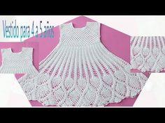 Crochet baby dress pineapple 38 Ideas for 2020 Crochet Girls, Crochet For Kids, Diy Crochet, Crochet Shawl, Crochet Baby Dress Pattern, Crochet Blanket Patterns, Crochet Clothes, Pineapple Ideas, Youtube