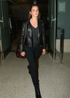Emma Watson arrived in LAX Airport in Los Angeles, CA on September 7th, 2015