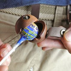 Leather & Wood Lollipop Case. It really doesn't get any more aggressively hipster than that.