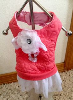 XS Recycled-UpCycled Dog Harness Dress-Chihuahua by RocknHotdog