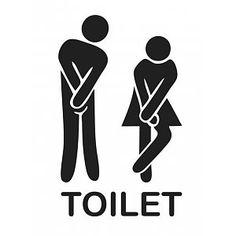 Muursticker Toilet