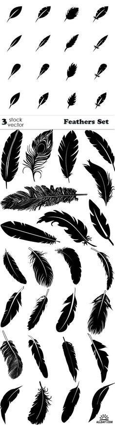 Vectors - Feathers Set