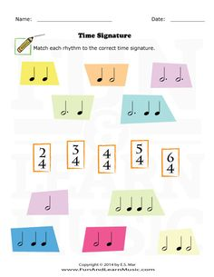 Time signature worksheet for kids! Learning Music Notes, Reading Music, Music Education, Preschool Music, Music Activities, Compas Musical, Music Theory Worksheets, Music Lessons For Kids, Middle School Music
