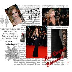 """""""Cara Delevingne (Cannes Red Carpet)"""" by little-mrs-cant-be-wrong on Polyvore"""