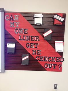 November 2014 display surrounding smartboard - first lines of books (blind date)