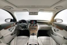 """Mercedes C-Class 2014 interior white. I saw this and I was like """"woahhh"""""""