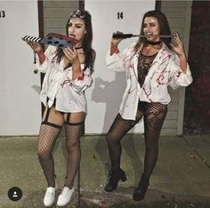 New Ideas party outfit college halloween costumes Disfarces Halloween, Halloween Tumblr, Diy Halloween Costumes For Women, Couple Halloween, Halloween Outfits, Group Halloween, Teenager Party, Maquillage Halloween, Halloween Disfraces