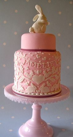 pink bunny cake - Google Search