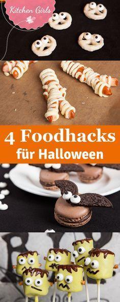 Wir zeigen euch vier schaurig schöne Foodhacks für Halloween, die ihr in minutenschnelle nachmachen könnt!