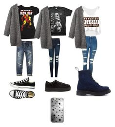 rock and roll by moda-makeup on Polyvore featuring polyvore Toast Hollister Co. Topshop J Brand Dr. Martens Converse Rianna Phillips fashion style clothing and rock roll RckAndRoll