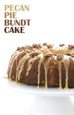 Low Carb Pecan Pie B Low Carb Pecan Pie Bundt Cake. Perfect for a healthy Thanksgiving! LCHF Keto Banting THM via All Day I Dream About Food