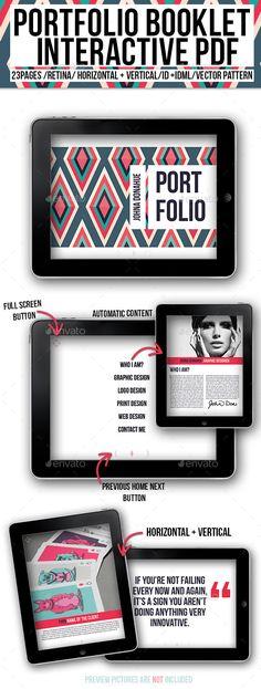 Portfolio Booklet Interactive PDF Template #eportfolio #ebooklet Download: http://graphicriver.net/item/portfolio-booklet-interactive-pdf/10138072?ref=ksioks