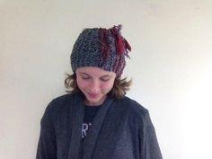Lovely Berry Gray Headband Earwarmer Women by LibertysBoutique