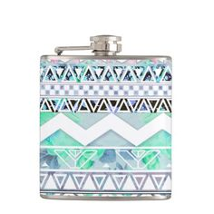 Teal Girly Floral White Abstract Aztec Pattern Flasks http://www.zazzle.com/teal_girly_floral_white_abstract_aztec_pattern_flask-256066794463913035?rf=238623545376815743
