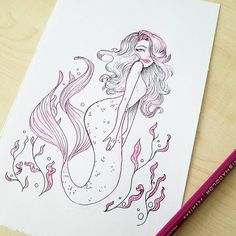 """49 Likes, 1 Comments - Basia Tluchak (@basiatlu) on Instagram: """"Happy 1st day of May! For me it's day 1 of #MerMay! If you've seen any previous pieces of mine you…"""""""