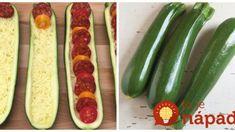 Ak máte doma 3 cukety a mozzarellu, môže si pripraviť najrýchlejšiu pochúťku na večeru: 15-minútová plnená cuketa – vynikajúca! Zucchini, Pizza, Vegetables, Food, Summer Squash, Meal, Eten, Vegetable Recipes, Meals
